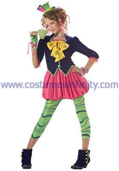 mad hatter costume for women | ... Tween Mad Hatter Costume - Kids Disney Costumes - Childrens Costumes