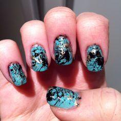 New nail art, splatter! This was an adventure! Haha.  Twitter: @ciaraa_black Instagram: ciaracake Tumblr: ciaracake.tumblr.com