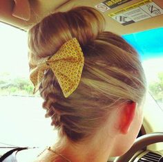Backwards braid and bun