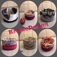 #Kurve af stofrester, gode til brød, frugt eller grøntsager. #KroezeDezign juli 2015. #designyourowngifts #syning #sewing