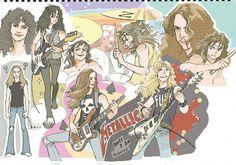metallica art *o* Metallica Tattoo, Metallica Art, Queen Drawing, Rock Y Metal, Cliff Burton, Ride The Lightning, Kirk Hammett, Fanart, Metal Tattoo