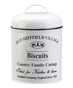 Look what I found on #zulily! Biscuits Canister #zulilyfinds