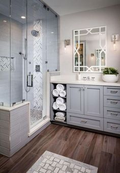 Modern Bathroom Remodel Ideas - Every bathroom remodel begins with a design suggestion. From typical to modern to beach-inspired, bathroom design alternatives are unlimited. Our gallery showcases bathroom makeover ideas. Bad Inspiration, Bathroom Inspiration, Ideas Baños, Decor Ideas, Tile Ideas, Decorating Ideas, Decor Diy, Art Decor, Interior Decorating