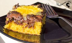 Dark Chocolate Orange Upside Down Cake
