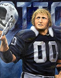 Oakland Raiders Painting - Oakland Raider Jim Otto by Angie Villegas Oakland Raiders Wallpapers, Oakland Raiders Images, Oakland Raiders Football, Nfl Football, Football Memes, Raiders Vegas, Raiders Baby, Canadian Football, American Football