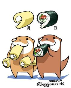 今日は手巻寿司の日&ロールケーキの日だそうです♪  かろりー いず でりしゃす!ヾ(*゚∀゚*)ノ