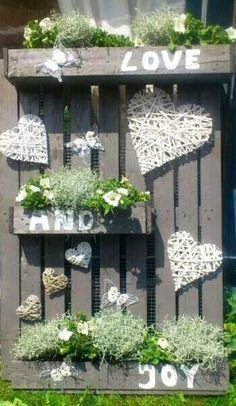 1000 images about pallets on pinterest pallet art pallet clock and clock - Tuin en deco ...