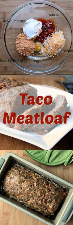TACO MEATLOAF Truly a family friendly dinner!  Kids love tacos and this meatloaf transforms all the usual taco ingredients.  great way to mix up your Taco Tuesday!