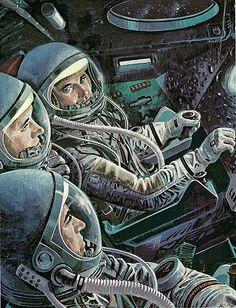 ... inside Apollo Command Module (CM)