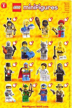 lego minifigures series 1