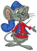 10205 Mouse boy machine embroidery design
