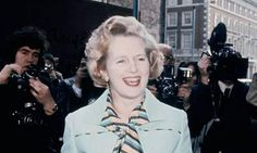 Margaret Thatcher, the year she became leader of the Conservatives