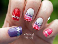 Chevron Nails ~ Paulina's Passions