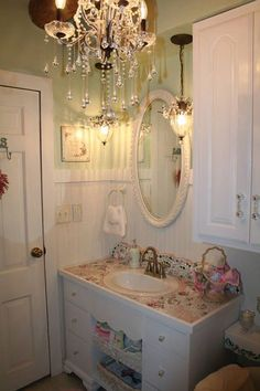love this sink from an old desk/dresser <3