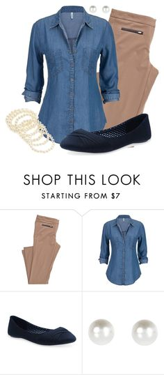 Teacher Outfits on a Teacher's budget. featuring Wet Seal, River Island and Forever 21 Legging Outfits, Jean Shirt Outfits, Adrette Outfits, Preppy Outfits, Summer Outfits, Denim Shirt, Tan Pants Outfit, Denim Blouse, Work Outfits