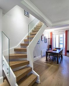 Best Abbott Wade Open Tread Stained Oak Staircase With 400 x 300