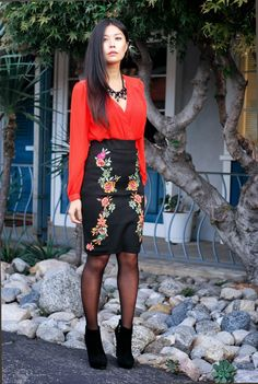 black high waisted floral skirt outfit, lawyer, best