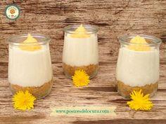 Vasitos de tarta de queso con crema de limón | Cocinar en casa es facilisimo.com