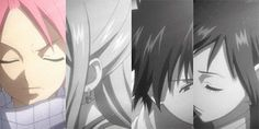 Fairy Tail - Natsu, Lucy, Gray and Erza Fairy Tail Family, Fairy Tail Love, Fairy Tail Nalu, Fairy Tail Couples, Fairy Tail Ships, All Out Anime, Got Anime, I Love Anime, Erza Scarlet