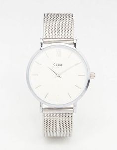 Cluse | Cluse Minuit Silver Mesh Watch CL30009 at ASOS