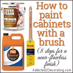One of the best tutorials I have ever read about how to properly (and successfully) paint cabinets. How to use Floetrol and the effects of gravity on increasing brush marks. Yes, gravity!