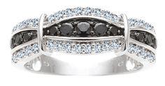 1/2ct Black & White Diamond Sterling Silver Ring  WR4471BD-SS-07
