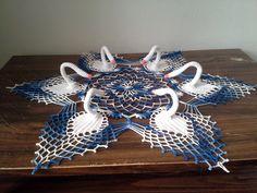 Crochet Swan Symphony Doily