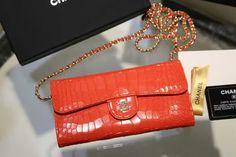Chanel fashion red Alligator Leather Wallet Purse bag cowhide size:20x11cm 87112 QC1 whatsapp:+8615503787453