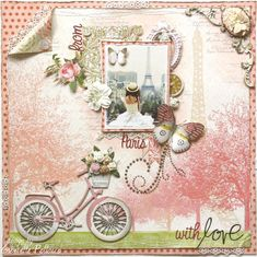 Layout: From Paris with Love ~ Scrapbooking Inspiration ~ ♥ #scrapbooking #crafts #diy