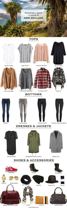 10 Days in New Zealand Packing List + outfit options here: http://livelovesara.com/2015/09/packing-light-10-days-in-new-zealand-outfit-options/