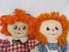 Vintage Raggedy Ann and Andy Soft Body by BonniesVintageAttic