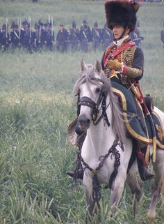 this galant officier is Jean Francois Rémy-Neris, he is a captain in the 10e of the chasseur acheval de la garde. He is often on Waterloo and other main events. He lives in Paris.