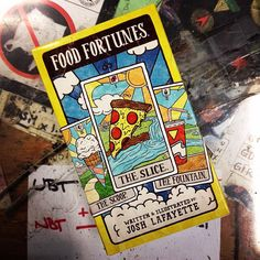 Finally. You'll never have to decide what to eat ever again! #foodtarot #greenapplebooks #sanfrancisco