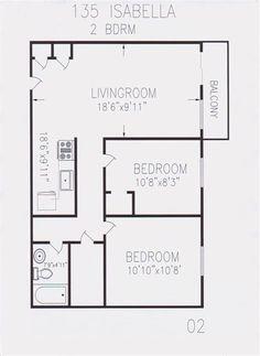 2 Bedroom Floor Plans For 700 Sq Ft House Open