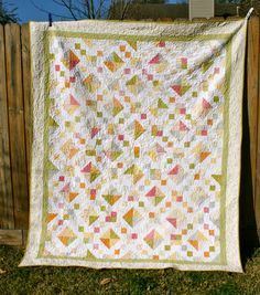 Sunkissed Jewel Box Quilt « Moda Bake Shop  1 73″x88″ twin sized quilt
