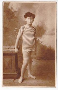 CA 1900 Vintage Original Photo Postcards Children Boy in Swimsuits | eBay