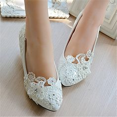 Women's+Wedding+Shoes+Heels+Heels+Wedding+White+–+GBP+£+34.40