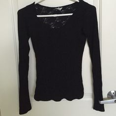 Basic Black Long Sleeve Top scoop neck, size S, gently used, no flaws. no trades, no lowest, no model. I leave for out of town on the 23rd, will ship any orders placed after than on the 2nd, thanks Aeropostale Tops Tees - Long Sleeve