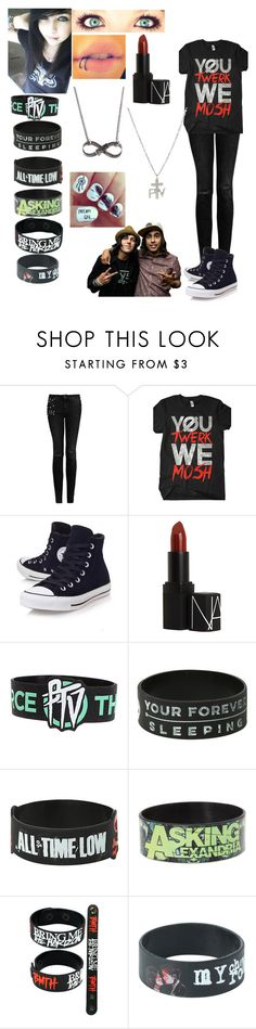 """""""spending the day with Vic Fuentes and Kellin Quinn"""" by emmcg915 ❤ liked on Polyvore featuring MANGO, Converse and NARS Cosmetics"""