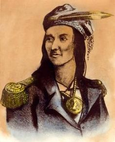 Portrait of Shawnee military and political leader Tecumseh, ca. 1800. Via Ohio Memory.