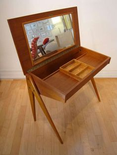 MCM Dressing/vanity table. Adorable!