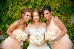 Bridesmaids and Bride align for sparkling beauty.