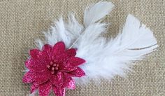 Channel the Roaring '20s with This DIY Flower and Feather Barrette