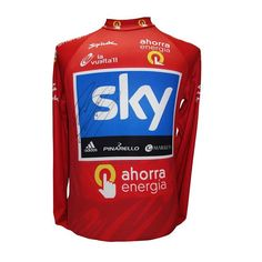 A few of our jerseys being auctioned on eBay, like Brad Wiggins' leader's jersey from the 2011 Vuelta. Link in our profile 😊 #lepuncheur @teamsky