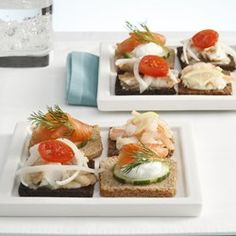 Salmon & Cucumber Mini Smorrebrod (Smorrebrod med Roget Laks og Agurker) - EatingWell.com