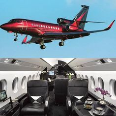 Private Jets on Inst Jets Privés De Luxe, Luxury Jets, Luxury Private Jets, Private Plane, Avion Jet, Dassault Falcon 7x, Private Jet Interior, Aircraft Interiors, Aircraft Painting