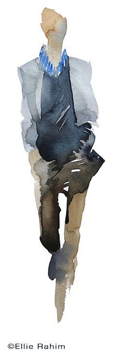 #fashion #sketch. Print available. Commissions undertaken. ellierahim@me.com ellierahim.com #fashionillustration #illustration