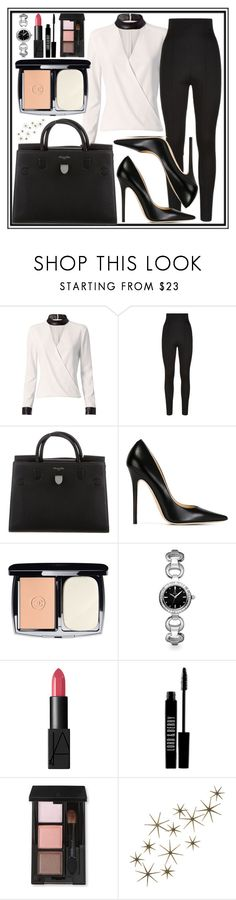 """""""Untitled #482"""" by ngkhhuynstyle ❤ liked on Polyvore featuring Exclusive for Intermix, Balmain, Christian Dior, Jimmy Choo, Chanel, Allurez, NARS Cosmetics, Lord & Berry, SUQQU and Global Views"""