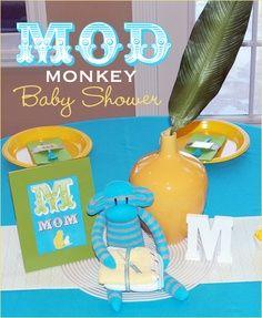 Mod Monkey Baby Shower