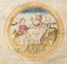 Kalender und Praktika, schwäbisch 15. Jh. Cgm 28  Folio 2v